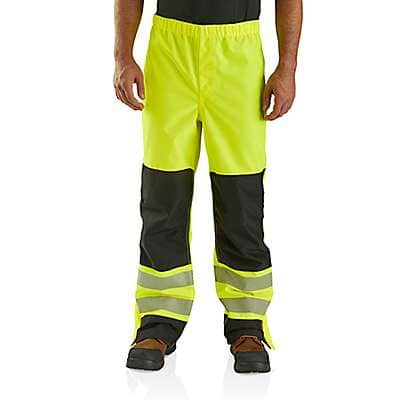 Carhartt Men's Brite Lime High-Visibility Class E Waterproof Pant - front