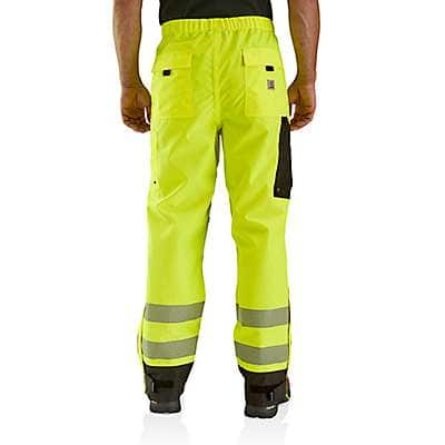 Carhartt Men's Brite Lime High-Visibility Class E Waterproof Pant - back