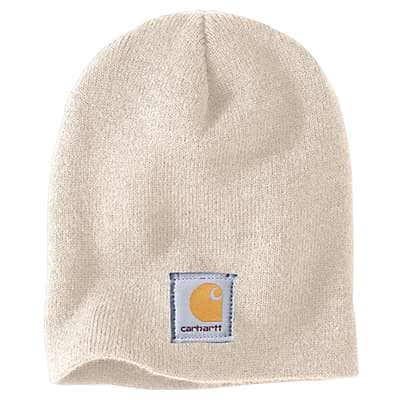 Carhartt Women's Winter White Acrylic Knit Hat - front