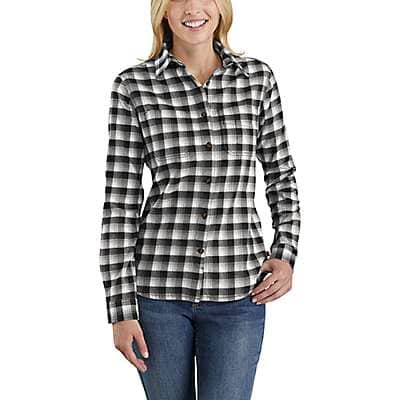 Carhartt Women's Natural Rugged Flex® Hamilton Flannel Shirt - front