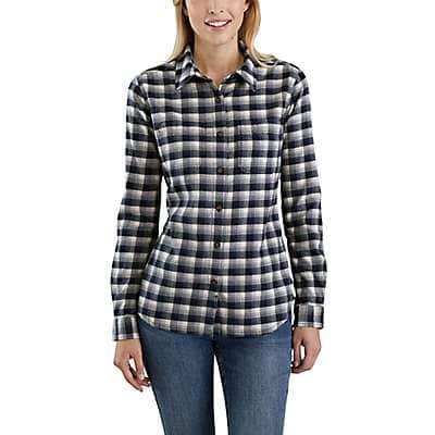Carhartt Women's Natural Rugged Flex® Hamilton Flannel Shirt - front