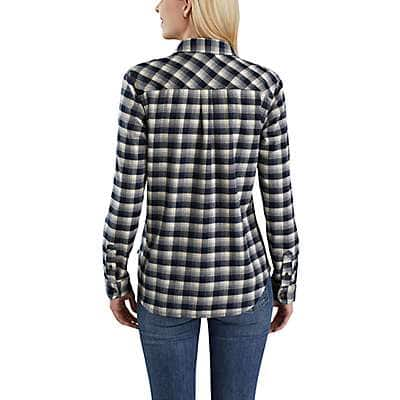 Carhartt Women's Natural Rugged Flex® Hamilton Flannel Shirt - back