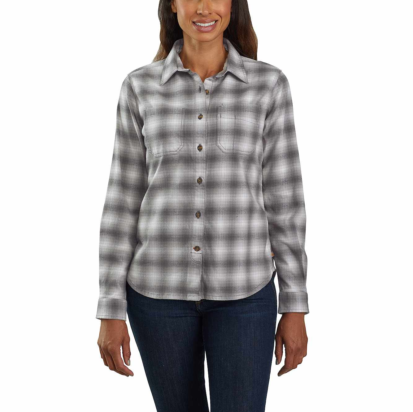 Picture of Rugged Flex® Hamilton Flannel Shirt in Charcoal