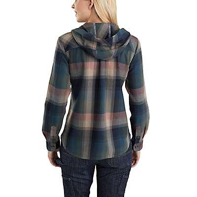 Carhartt Women's Asphalt Beartooth Hooded Flannel Shirt - back