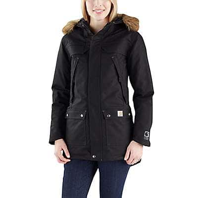 Carhartt Women's Black Quick Duck Sawtooth Parka - front