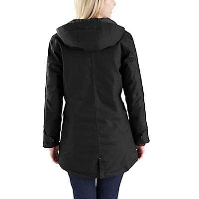 Carhartt Women's Black Quick Duck Sawtooth Parka - back