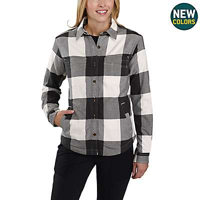 Carhartt Women's Natural Rugged Flex® Hamilton Fleece-Lined Shirt - front