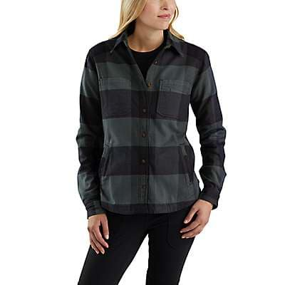 Carhartt Women's Elm Rugged Flex® Hamilton Fleece-Lined Shirt - front