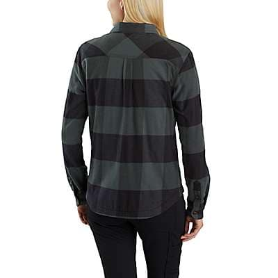 Carhartt Women's Natural Rugged Flex® Hamilton Fleece-Lined Shirt - back