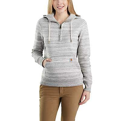 Carhartt Women's Shadow Space Dye Clarksburg Half-Zip Sweatshirt - front