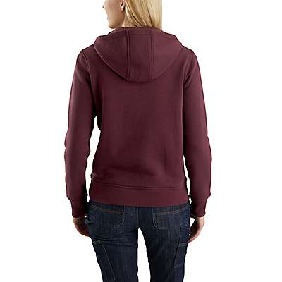 Carhartt  Sky Gray Heather Clarksburg Half-Zip Sweatshirt - back