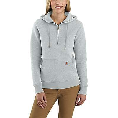 Carhartt Women's Sky Gray Heather Clarksburg Half-Zip Sweatshirt - front