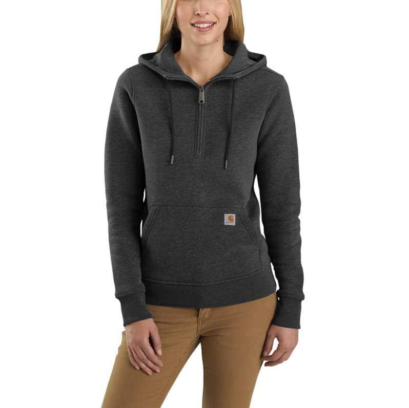 Carhartt  Carbon Heather Clarksburg Half-Zip Sweatshirt