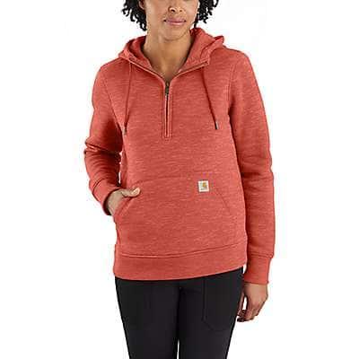 Carhartt Women's Earthen Clay Heather Clarksburg Half-Zip Sweatshirt