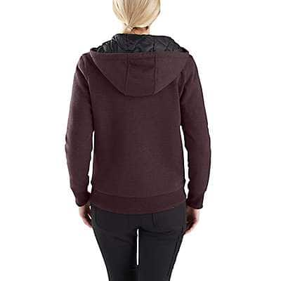 Carhartt  Fudge Heather Rain Defender® Rockland Quilt-Lined Full-Zip Hooded Sweatshirt - back