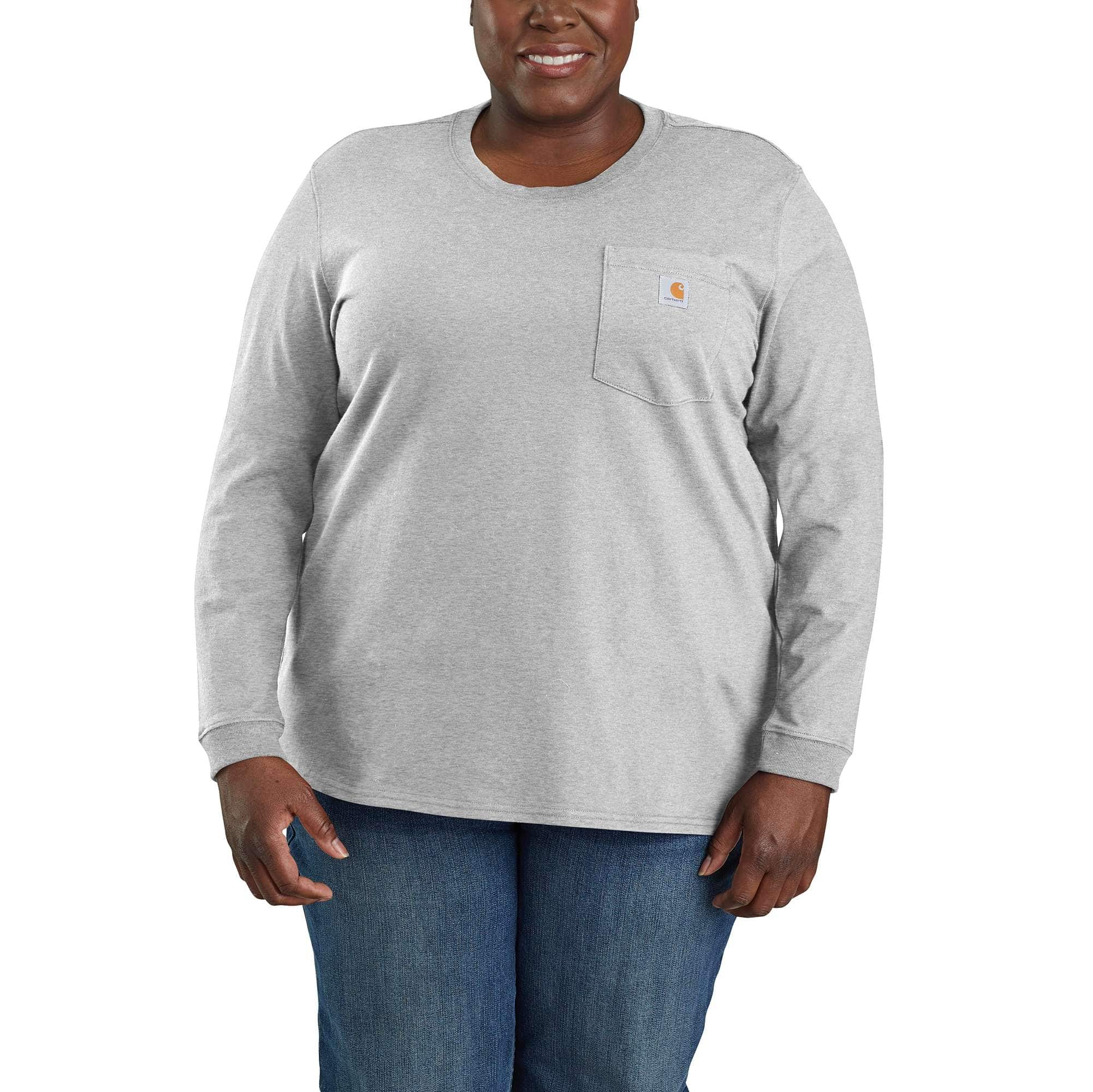 Picture of WK126 Workwear Pocket Long-Sleeve T-Shirt in Heather Gray