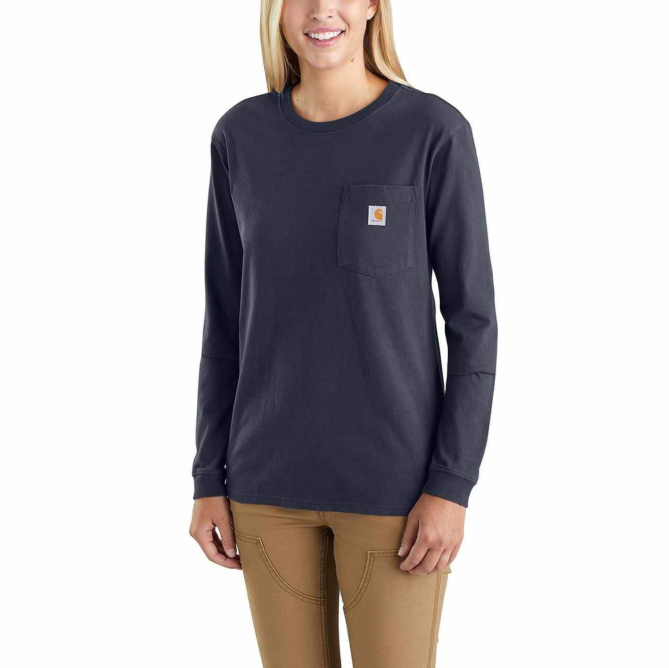 b0e53093d Women's WK126 Workwear Pocket Long-Sleeve T-Shirt 103244 | Carhartt