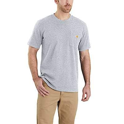 Carhartt Men's Heather Gray Workwear Pocket T-Shirt - Relaxed Fit - front