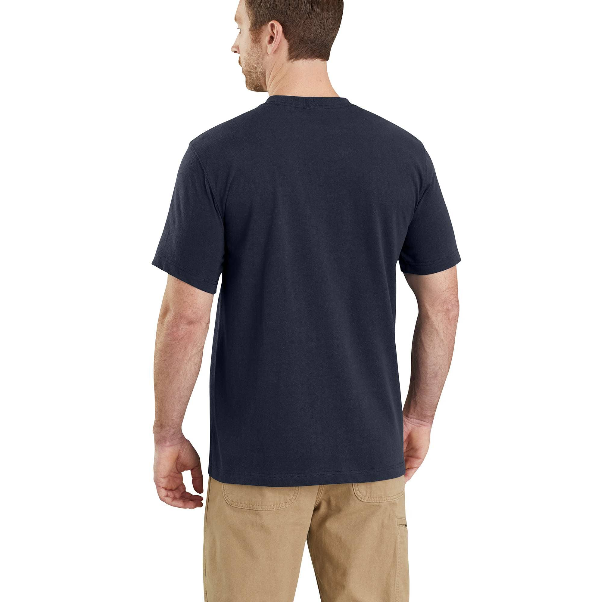 Carhartt Maddock S//S T-Shirt Men/'s XXL Navy Lighter Weight Relaxed NEW