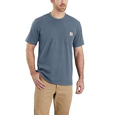 Carhartt Men's Navy Workwear Pocket T-Shirt - Relaxed Fit - back