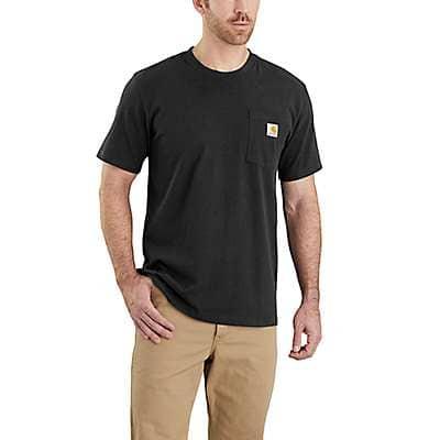 Carhartt Men's Black Relaxed Fit Heavyweight Short-Sleeve Pocket T-Shirt