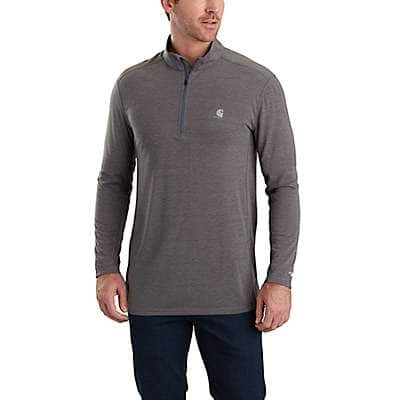 Carhartt Men's Shadow Heather Force Extremes® Half-Zip Long Sleeve Shirt - front