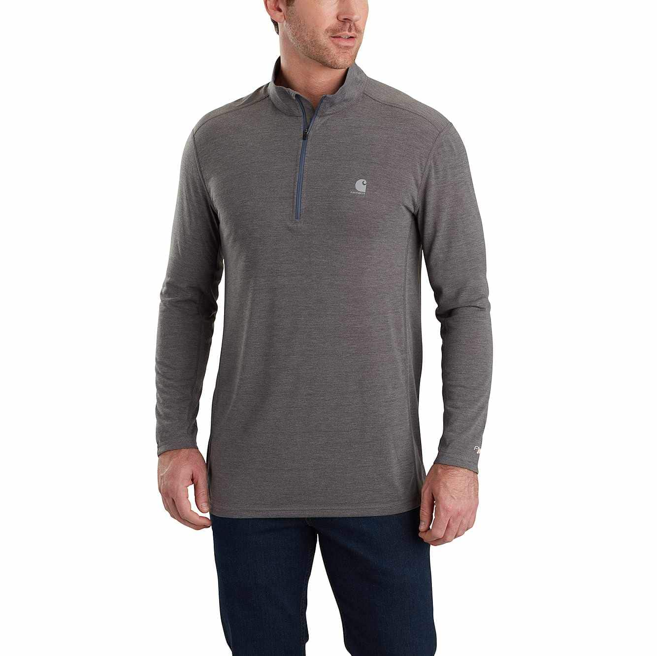 Picture of Force Extremes® Half-Zip Long Sleeve Shirt in Shadow Heather