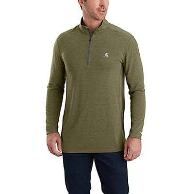 Carhartt Men's Shadow Heather Force Extremes® Half-Zip Long Sleeve Shirt - back