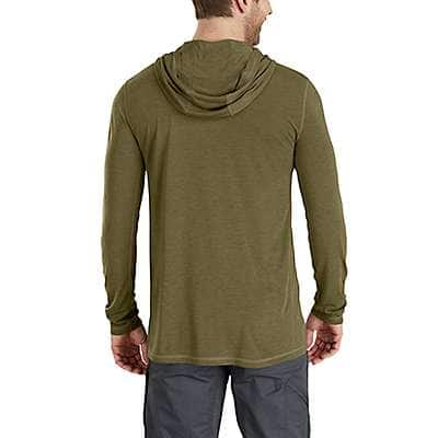 Carhartt Men's Burnt Olive Heather Force Extremes® Pullover Hoodie - back