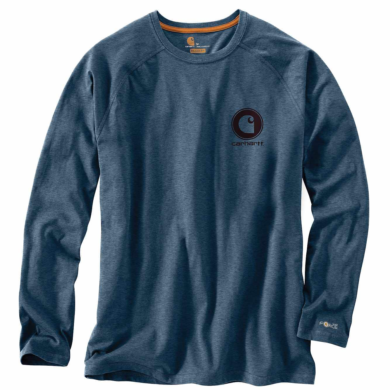 Picture of Force Cotton Delmont Long-Sleeve Graphic T-Shirt in Light Huron Heather