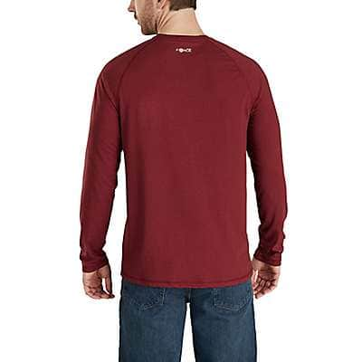 Carhartt Men's Granite Heather Force Cotton Delmont Long-Sleeve Graphic T-Shirt - back