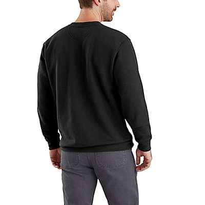 Carhartt Men's Black Midweight Graphic Crewneck Sweatshirt - back