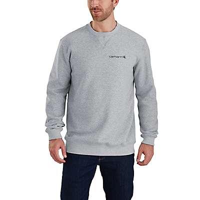 Carhartt Men's Black Midweight Graphic Crewneck Sweatshirt - front