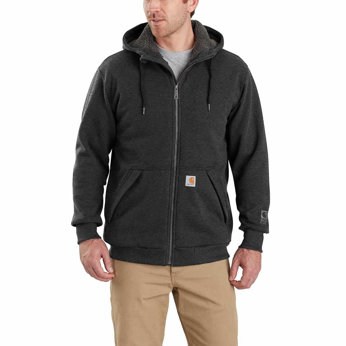 Picture of Rain Defender® Rockland Sherpa-Lined Hooded Sweatshirt in Carbon Heather