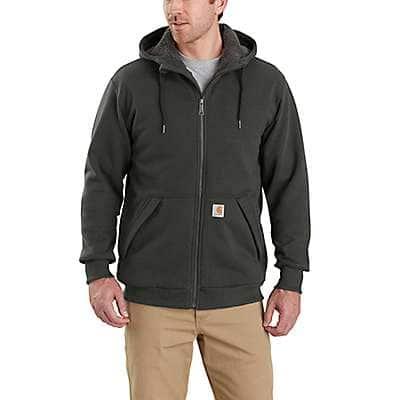 Carhartt Men's Peat Rain Defender® Relaxed Fit Midweight Sherpa-Lined Full-Zip Sweatshirt