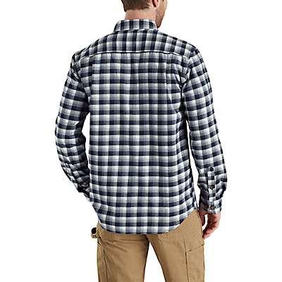 Carhartt  Army Green Rugged Flex® Hamilton Plaid Flannel Shirt - back