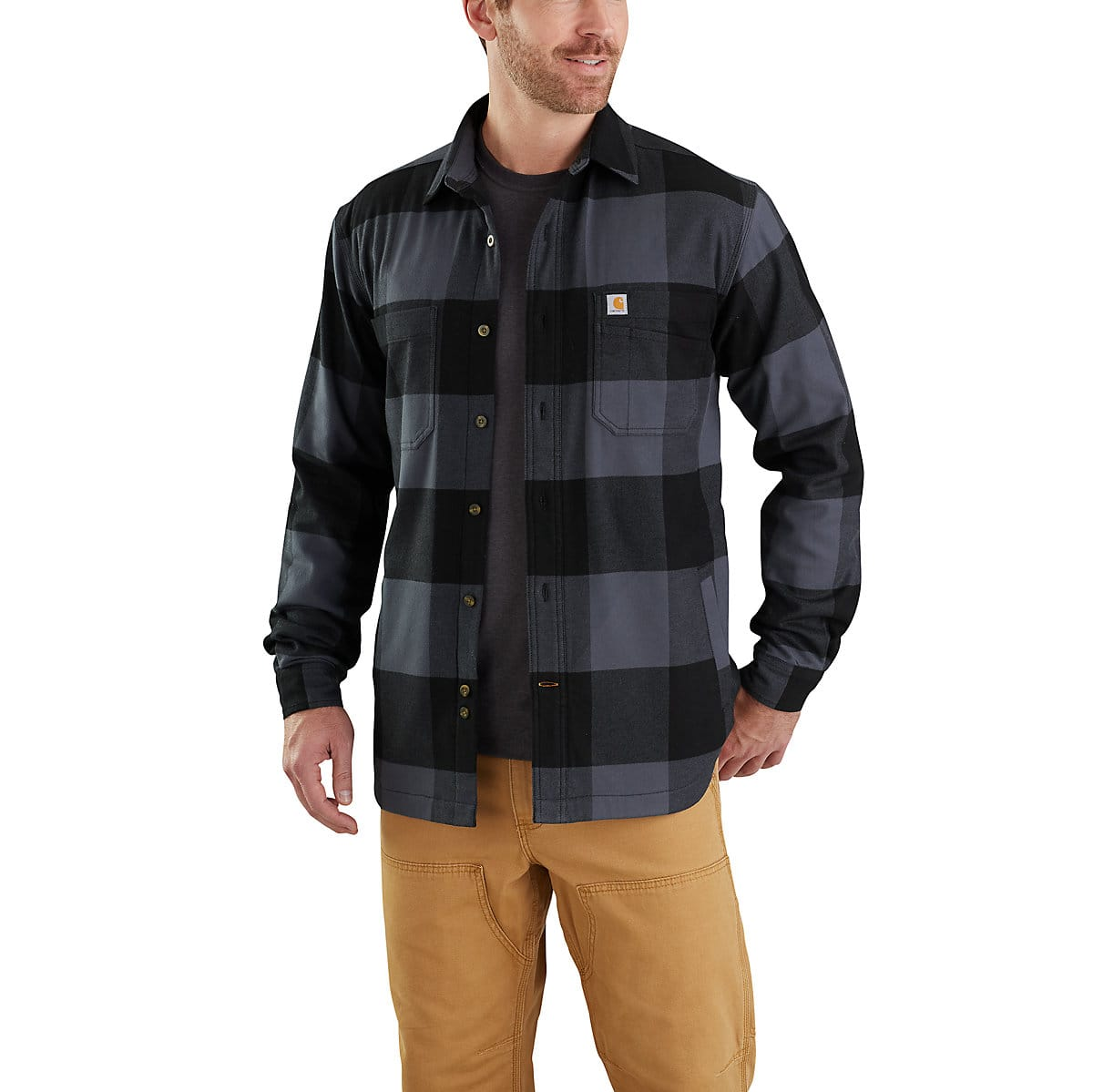 9aaccbee8 Men's Rugged Flex® Hamilton Fleece-Lined Shirt Jac | Carhartt