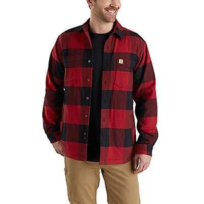 Carhartt Men's Bluestone Rugged Flex® Hamilton Fleece-Lined Shirt Jac - front
