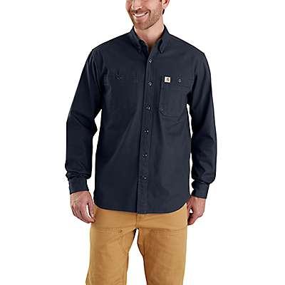 Carhartt Men's Black Rugged Flex® Rigby Work Shirt - front
