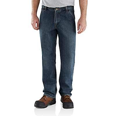 Carhartt Men's Blue Ridge Relaxed Fit Holter Dungaree Jean - front