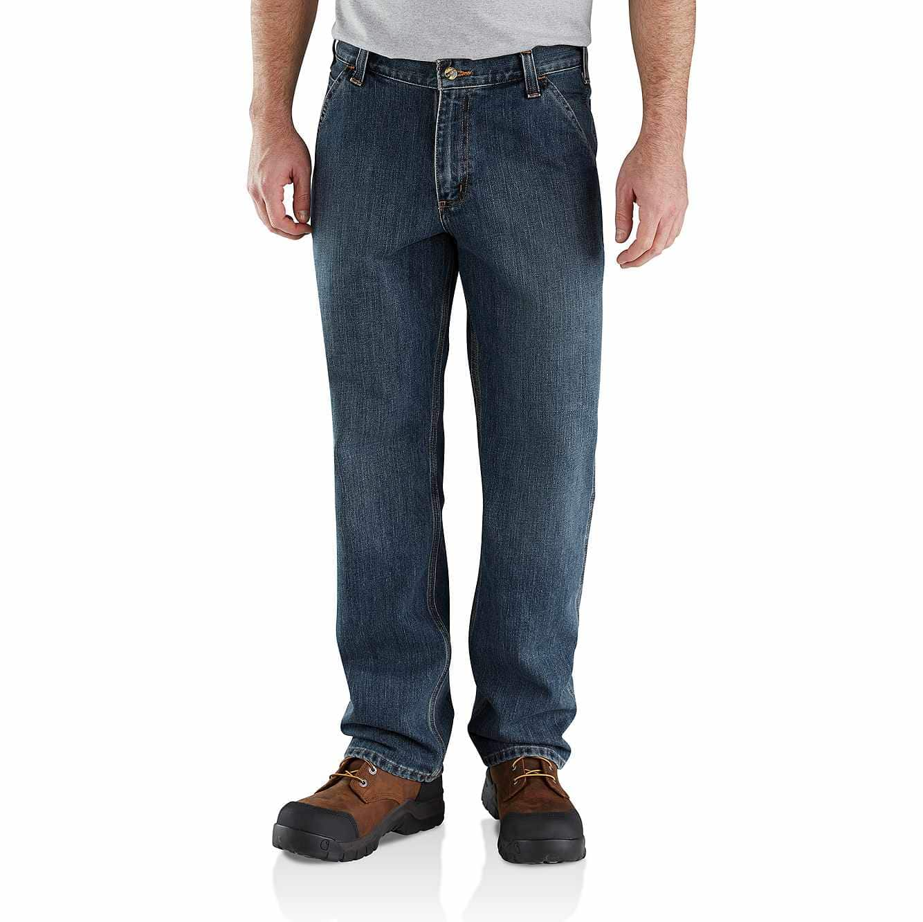 Picture of Relaxed Fit Holter Dungaree Jean in Blue Ridge