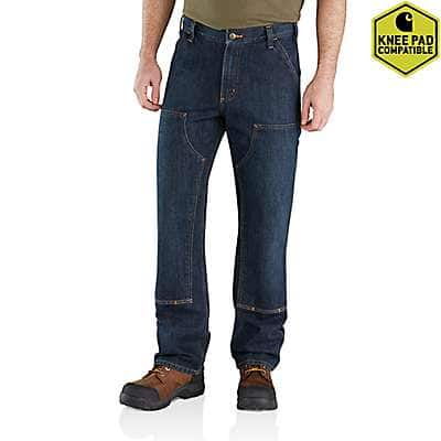 Carhartt Men's Blue Ridge Relaxed Fit Holter Double-Front Dungaree Jean - front