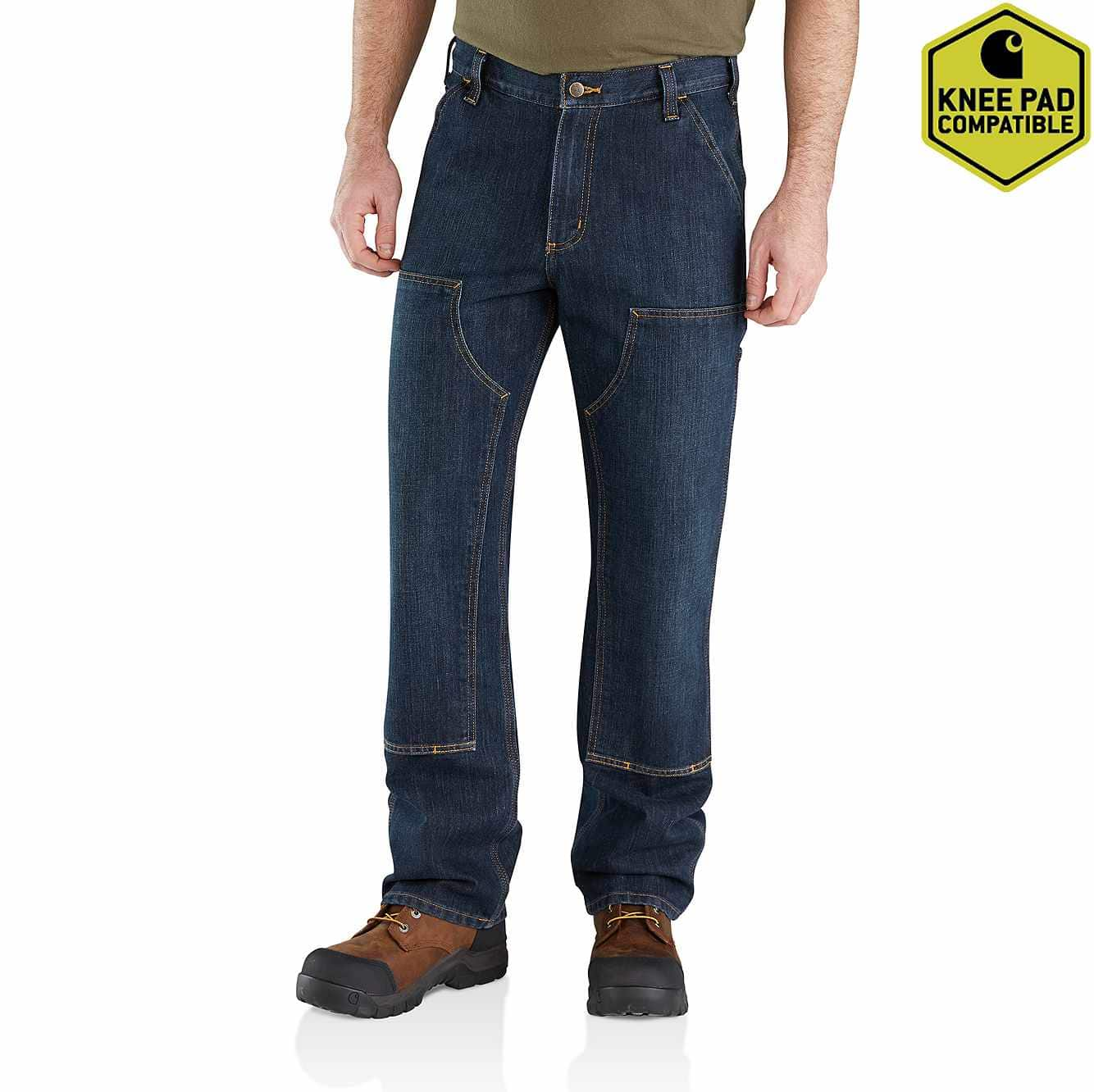 Picture of Relaxed Fit Holter Double-Front Dungaree Jean in Blue Ridge