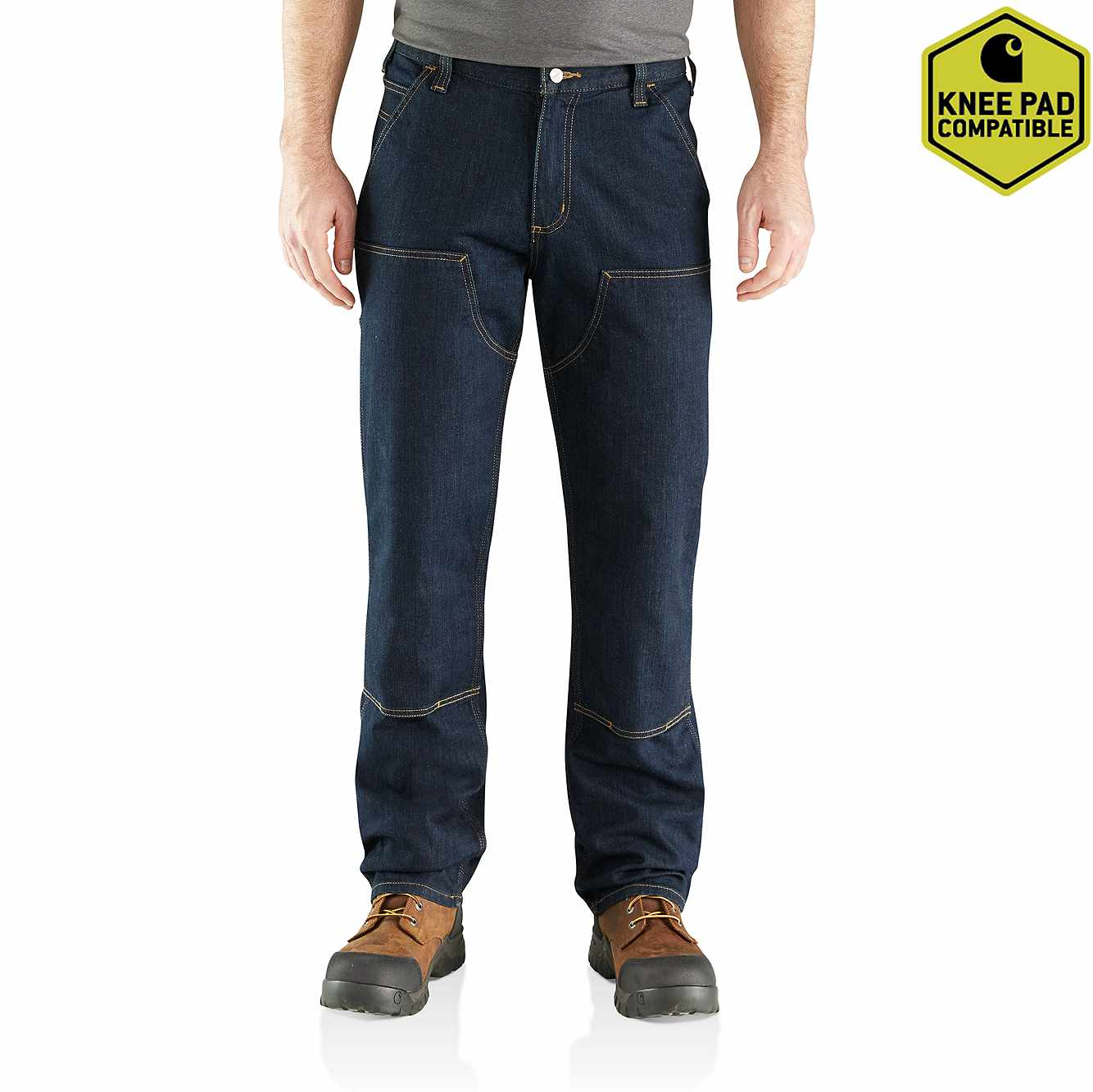 Picture of Rugged Flex® Relaxed Double Front Jean in Erie
