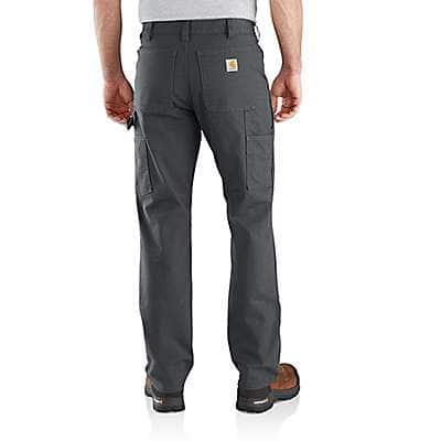 Carhartt Men's Carhartt Brown Rugged Flex® Relaxed Fit Duck Double Front Pant - back