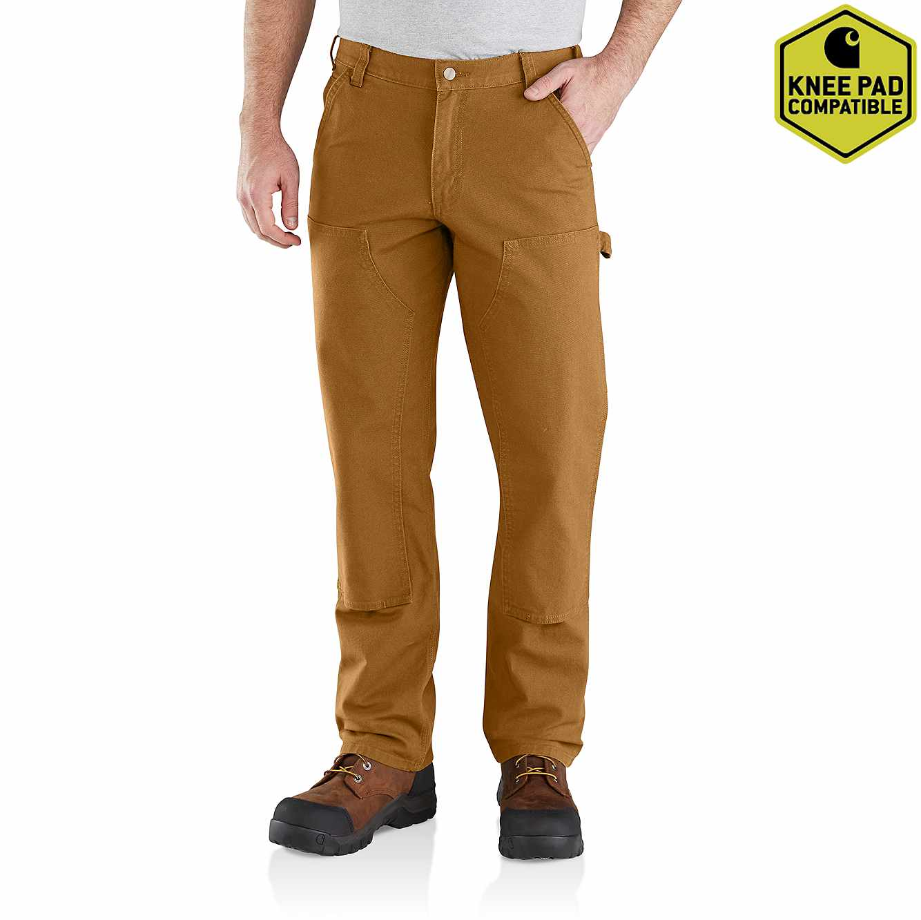Picture of Carhartt® Rugged Flex® Relaxed Fit Duck Double Front Pant in Carhartt Brown