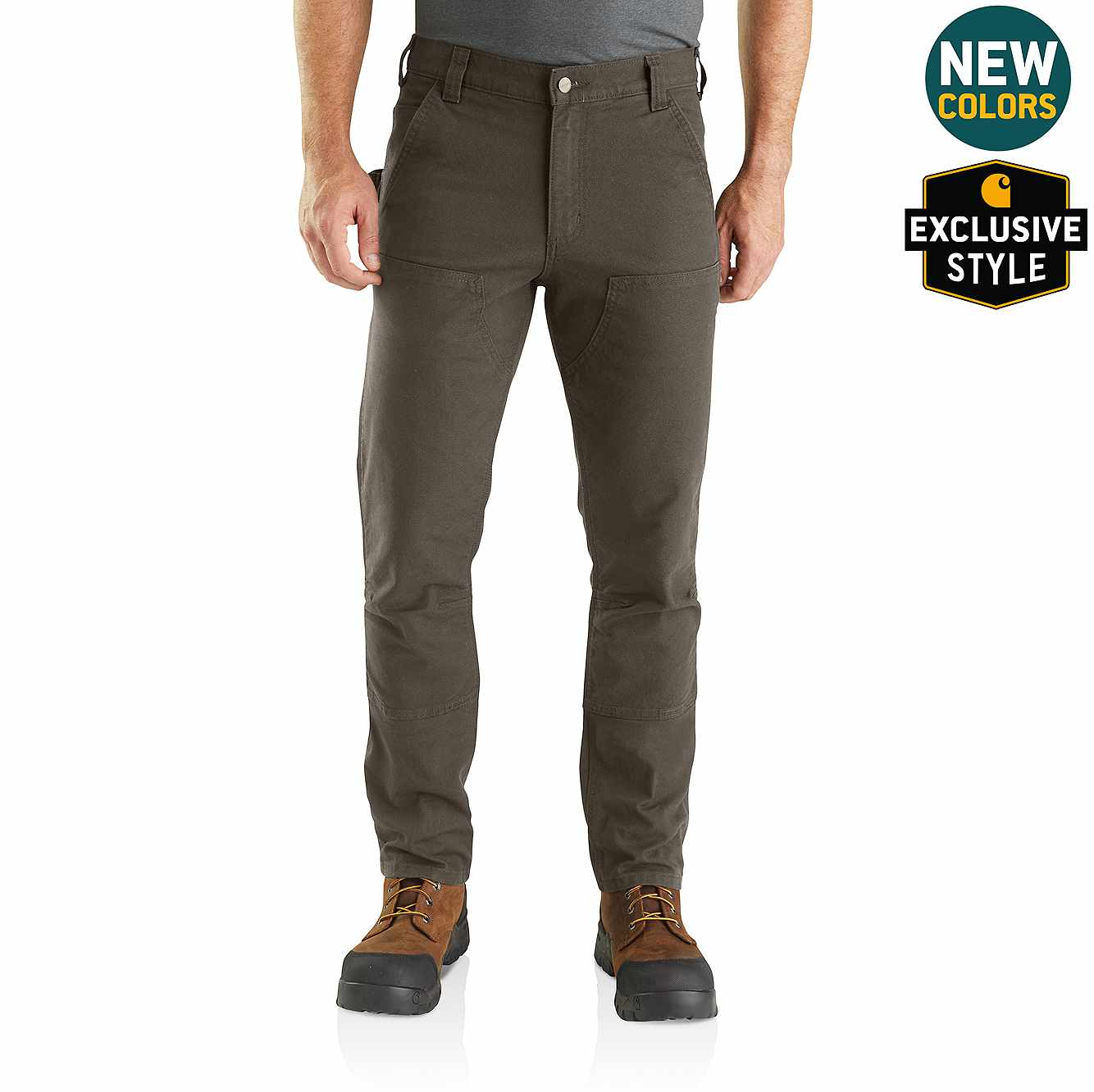 Picture of Rugged Flex® Straight Fit Duck Double Front Pants in Tarmac