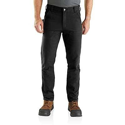 Carhartt Men's Black Rugged Flex® Straight Fit Duck Double Front Pants