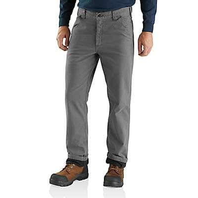 Carhartt Men's Gravel Rugged Flex® Rigby Dungaree Knit Lined Pant - front