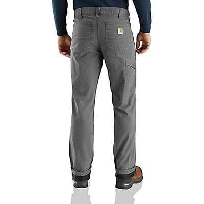 Carhartt Men's Gravel Rugged Flex® Rigby Dungaree Knit Lined Pant - back